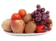 Un plato de frutas Fotografía de archivo