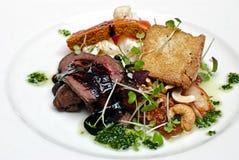 Un plato de la carne. Foto de archivo