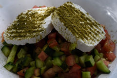 Un plato de la cocina israelí nacional Imágenes de archivo libres de regalías