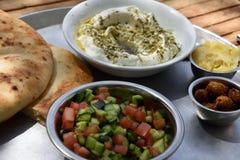 Un plato de la cocina israelí nacional Imagenes de archivo