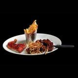 Un plato de la comida más fina europea imagen de archivo libre de regalías