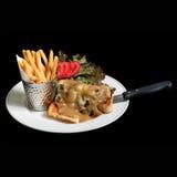 Un plato de la comida sana de la consumición foto de archivo libre de regalías
