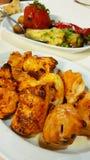 Un plato de pollo asado, Georgia fotografía de archivo libre de regalías