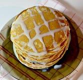 Un plato de punkcakes Foto de archivo libre de regalías