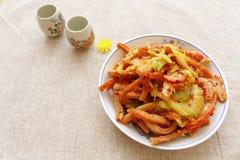 Aperitivo chino del frío de la comida Foto de archivo libre de regalías