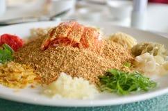 Un plato especial durante Año Nuevo chino llamó Yusheng o a Yee Sang Fotografía de archivo libre de regalías