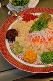 Un plato especial durante Año Nuevo chino llamó Yusheng o a Yee Sang Imagen de archivo