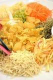 Un plato especial durante Año Nuevo chino llamó Yusheng o a Yee Sang Foto de archivo libre de regalías