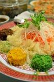 Un plato especial durante Año Nuevo chino llamó Yusheng o a Yee Sang Imagen de archivo libre de regalías