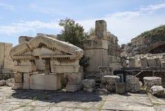 Un plus grand fronton de Propylaiain, Eleusis antique Image libre de droits
