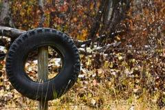 Un pneu utilisé image libre de droits