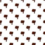 Un poco dall'alfabeto latino fatto di cioccolato illustrazione vettoriale