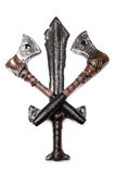 Un poignard et deux haches Image libre de droits