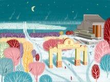 Un point de repère célèbre dans Krasnoïarsk illustration libre de droits