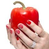 Un poivron rouge Photo stock