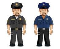 Un poli en 2 uniformes Imagen de archivo