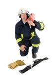 Un pompiere Fotografia Stock Libera da Diritti
