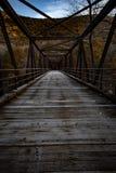 Un pont au Vermont pendant l'automne image libre de droits