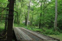 Un pont de ruelle dans Smokey Mountains images libres de droits