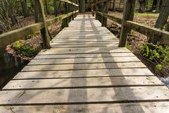 Un pont en bois Photo libre de droits