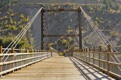 Un pont en bois historique Images libres de droits