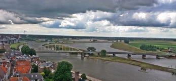Un pont par Deventer photo stock