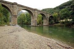 Un pont sur l'Orb Stock Photo
