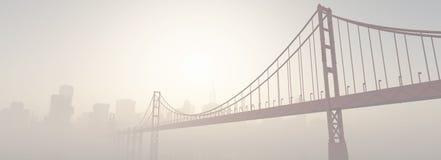 Un ponte al tramonto Fotografie Stock Libere da Diritti