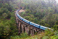 Un ponte Demodara in Ella, Sri Lanka di nove arché Immagini Stock Libere da Diritti