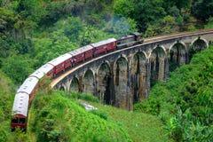 Un ponte di nove arché in Ella Sri Lanka fotografie stock libere da diritti