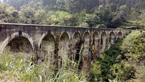 Un ponte di nove archi, Ella fotografia stock libera da diritti