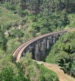 Un ponte di nove archi nello Sri Lanka Fotografie Stock Libere da Diritti