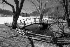 Un ponte a dorso d'asino ai picchi della lontra Fotografie Stock Libere da Diritti