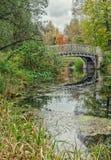Un ponte nel parco di Gatcina Immagini Stock Libere da Diritti