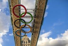 Un ponte olimpico di 2012 torri di Londra Fotografia Stock