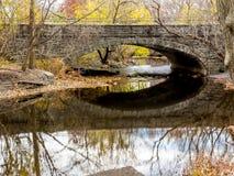 Un ponticello sopra acqua Fotografie Stock