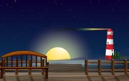 Un port avec vue sur le parola Images libres de droits