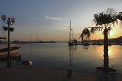 Un port de yacht Photos libres de droits