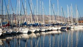 Un port maritime à Athènes, Grèce Photographie stock