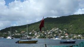 Un porto comodo in Isole Sopravento meridionali stock footage