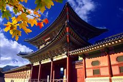 Un portone del palazzo coreano Immagine Stock