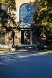 Un portone della biblioteca nell'università di Tsinghua Fotografia Stock Libera da Diritti