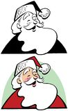 Un portrait de bande dessinée de Santa Claus Laughing illustration stock