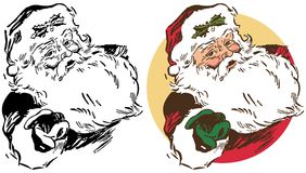 Un portrait de Noël de Santa Claus illustration libre de droits