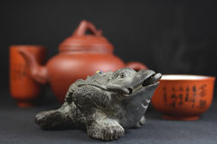 Un positionnement pour la cérémonie de thé Photo stock