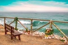 Un posto di meditazione al bordo del mare Fotografia Stock Libera da Diritti