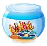 Un pot avec une perle illustration stock