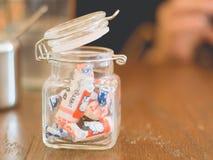 Un pot de sucrerie Photo libre de droits