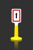 Un poteau de signalisation de manière Images stock