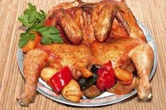 Un poulet rôti Images stock